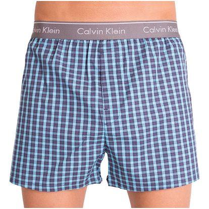 Pánské trenýrky Calvin Klein classic fit modrá kostička XL