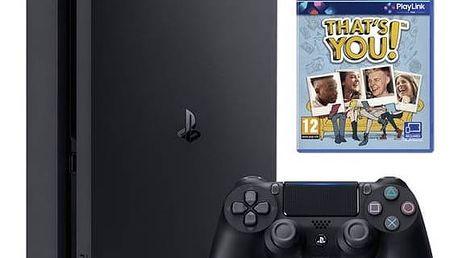 Herní konzole Sony PlayStation 4 SLIM 500 GB + That's You (PSN voucher) (PS719919063) černá + Doprava zdarma