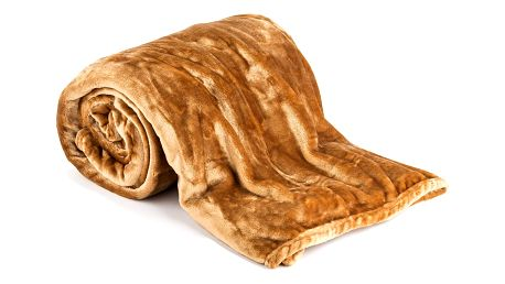 Jahu Deka XXL / Přehoz na postel hnědá, 200 x 220 cm