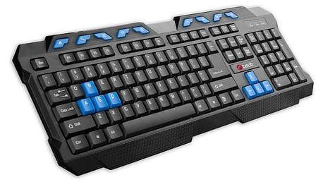 Klávesnice C-Tech GMK-102-B, CZ/SK (GMK-102-B) černá/modrá