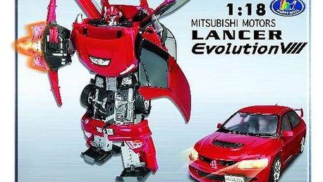 Transformers Road Bot Mitsubishi Evo VIII 1:18 + Doprava zdarma