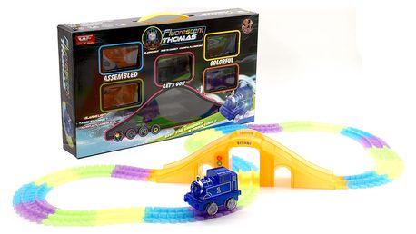 Fluorescent Rail Cars Thomas svítící autodráha-192 dílů 05