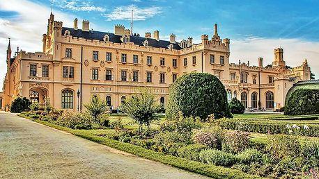 Jižní Morava romanticky v hotelu u zámku Lednice se snídaní a wellness balíčkem nebo degustací vín