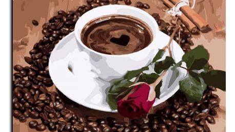 DIY obraz podle čísel - šálek kávy
