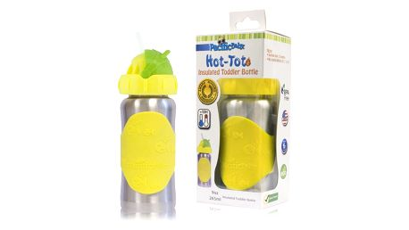 PACIFIC BABY Hot-Tot Termoska s brčkem 260 ml žlutá