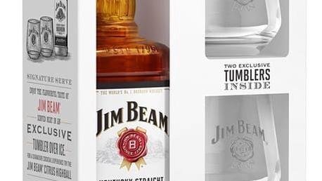 Jim Beam 0,7l 40%+2xSklo dárkové balení