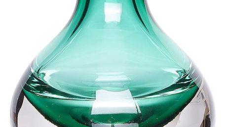 Hübsch Skleněná vázička Clear/green, zelená barva, čirá barva, sklo