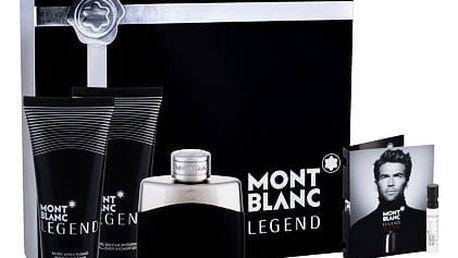 Montblanc Legend EDT dárková sada M - EDT 100 ml + balzám po holení 100 ml + sprchový gel 100 ml + vzorek EDT Legend Intense 1,2 ml