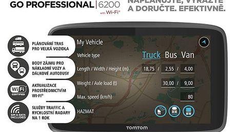 Navigační systém GPS Tomtom 6200 (1PL6.002.09) černá + DOPRAVA ZDARMA