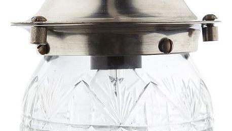 Hübsch Závěsná lampa Glass, čirá barva, sklo, kov