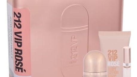 Carolina Herrera 212 VIP Rosé dárková kazeta pro ženy parfémovaná voda 50 ml + parfémovaná voda 10 ml + tělové mléko 75 ml
