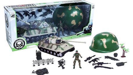 Vojenská sada s helmou Army
