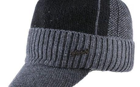 Pánská zimní čepice s kšiltem