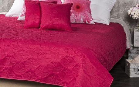 4Home Přehoz na postel Doubleface růžová/šedá,, 240 x 220 cm, 2x 40 x 40 cm