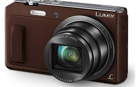 Digitální fotoaparát Panasonic DMC-TZ57EP-T hnědý + Doprava zdarma
