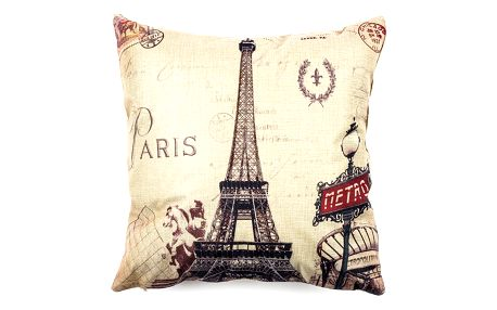 Jahu Povlak na polštářek Paris Eiffel metro, 45 x 45 cm