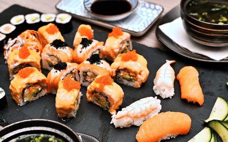 Asijská hostina pro dva: polévka, sushi, dezert