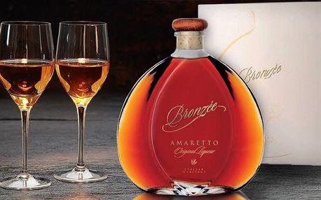 Italský likér Amaretto Bronzée v dárkovém balení