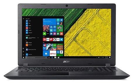 Notebook Acer 3 (A315-21G-44FZ) (NX.GQ4EC.003) černý Software Microsoft Office 365 pro jednotlivce CZ + Software F-Secure SAFE, 3 zařízení / 6 měsíců + Monitorovací software Pinya Guard - licence na 6 měsíců v hodnotě 2 278 Kč + DOPRAVA ZDARMA