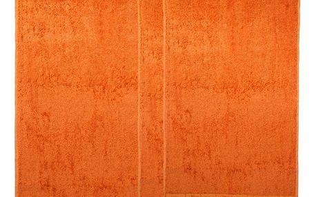 4Home Sada Bamboo Premium osuška a ručník oranžová, 70 x 140 cm, 2x 50 x 100 cm