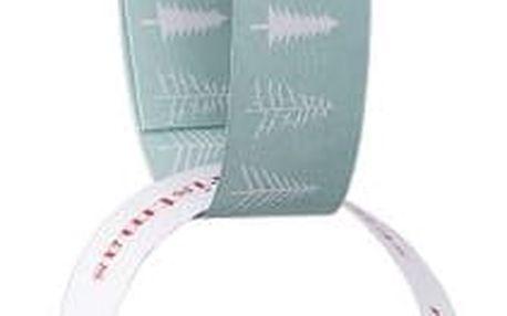 Bloomingville Vánoční papírový řetěz Lucia, červená barva, zelená barva, bílá barva, papír