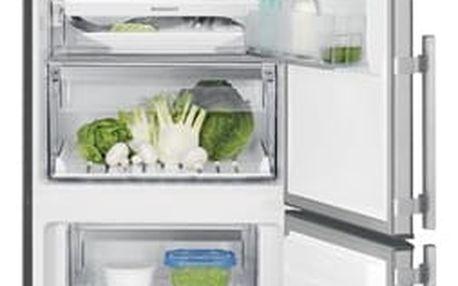 Kombinace chladničky s mrazničkou Electrolux EN3790MFX nerez + DOPRAVA ZDARMA
