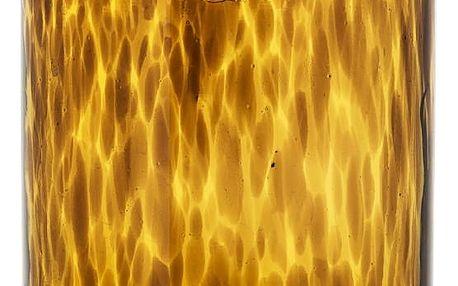 Bloomingville Váza Amber/black, oranžová barva, hnědá barva, sklo