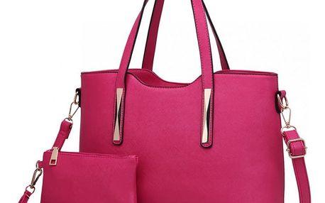 SET: Dámská růžová kabelka Maddy 1719