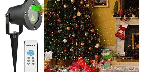 Vánoční laserový projektor - zelená/červená - 20 x 20 m s časovačem AT537483