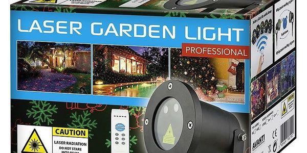 Vánoční laserový projektor - zelená/červená - 20 x 20 m s časovačem AT537484