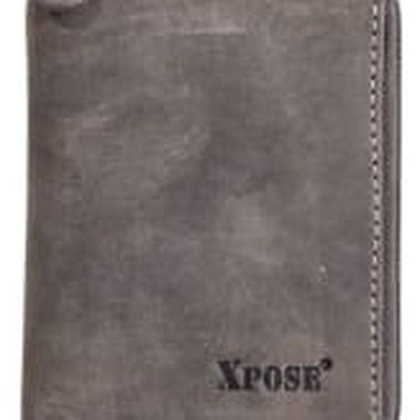 XPOSE ® Pánská peněženka XPOSE XH-20 - šedá