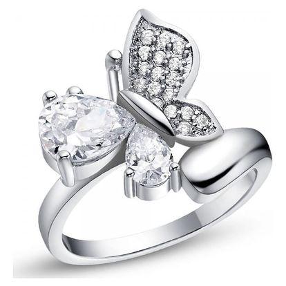Dámský prsten s motýlem - 4 velikosti