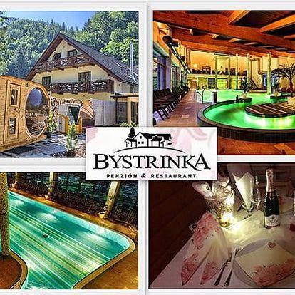 3 či 4denní romantický pobyt pro 2 s wellness v penzionu Bystrinka v Nízkých Tatrách