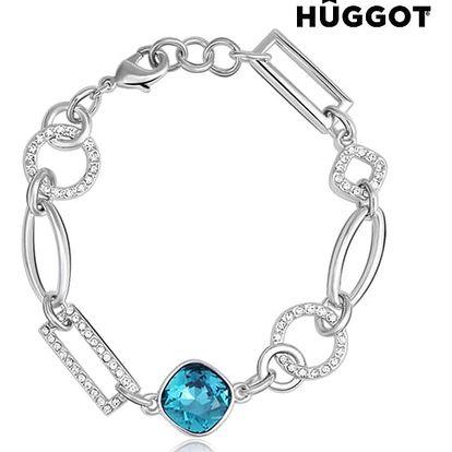 Náramek potažený rhodiem se zirkony Link Hûggot vyrobený s křišťály Swarovski® 18 cm