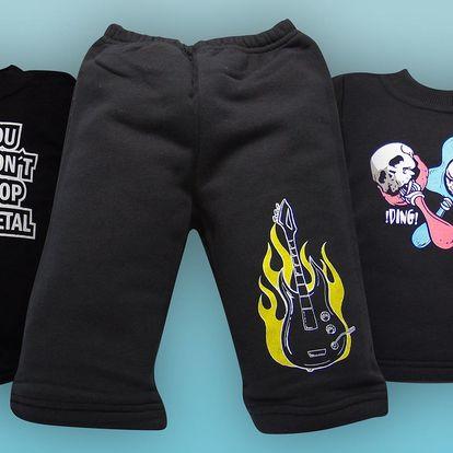 Dětské oblečení pro malé metalisty