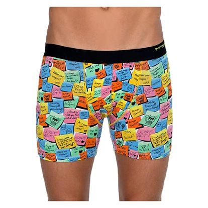 Pánské Boxerky 69SLAM Fit Bamboo Post It XL