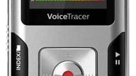 Diktafon Philips DVT4010 (855971006205) stříbrný Sluchátka Philips SHE3590WT do uší (zdarma) + Doprava zdarma