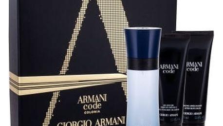 Giorgio Armani Armani Code Colonia dárková kazeta pro muže toaletní voda 75 ml + sprchový gel 75 ml + balzám po holení 75 ml