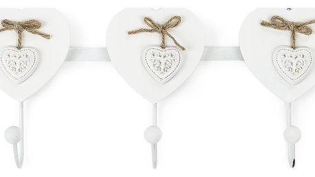 Lišta s háčky ve tvaru srdce, bílá, ARD716127 Autronic