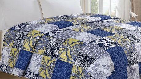Jahu Přehoz na postel Modrotisk, 220 x 240 cm