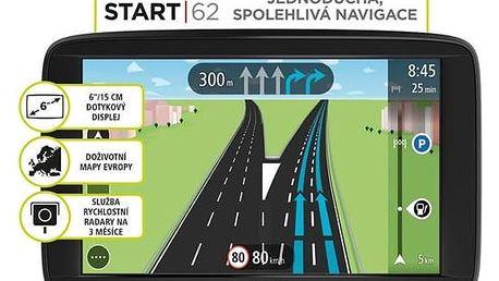Navigační systém GPS Tomtom START 62 Europe LIFETIME mapy (1AA6.002.01) černá + Doprava zdarma