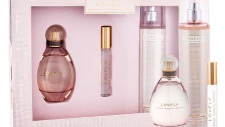 Sarah Jessica Parker Lovely dárková kazeta pro ženy parfémovaná voda 100 ml + parfémovaná voda 10 ml + tělový závoj 250 ml