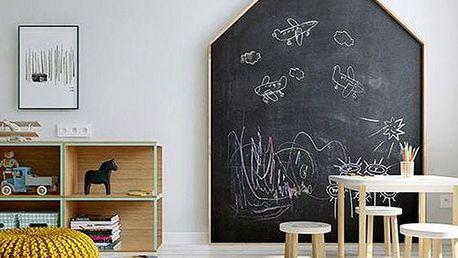 Samolepící kreslící tabule na zeď, 2 rozměry, osobní odběr