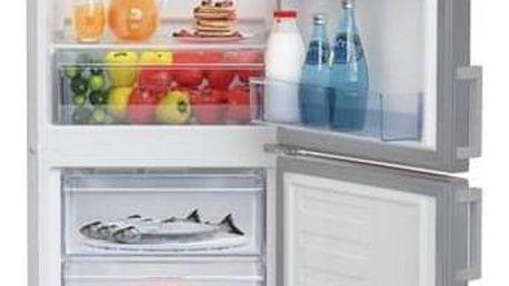 Kombinace chladničky s mrazničkou Beko CSA 240 M21X nerez + Doprava zdarma