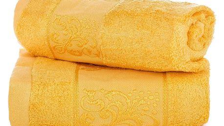 Jahu dárková sada ručníků bambus Ankara žlutá