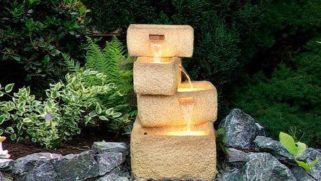 Garthen 141 Zahradní kašna - fontána se 4 kamennými žlaby