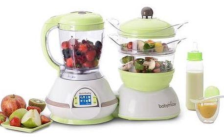 Multifunkční přístroj Babymoov Nutribaby bílá/zelená/hnědá + Doprava zdarma