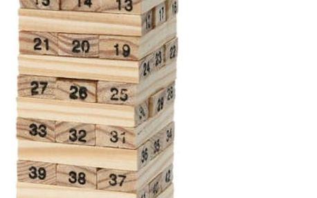 Očíslovaná Jenga věž + 4 hrací kostky - dodání do 2 dnů
