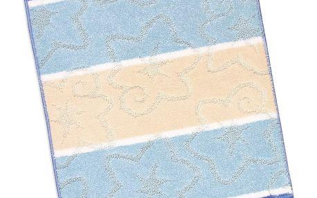 Bellatex Koupelnová předložka Avangard Modrý orion, 60 x 100 cm