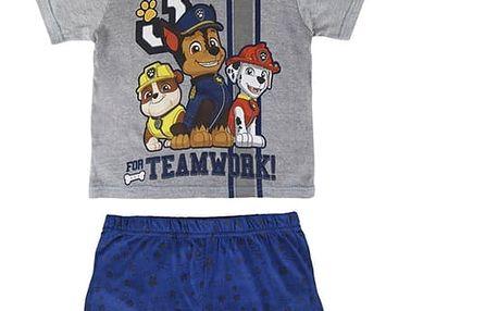 Letní Chlapecké Pyžamo Tlapková Patrola